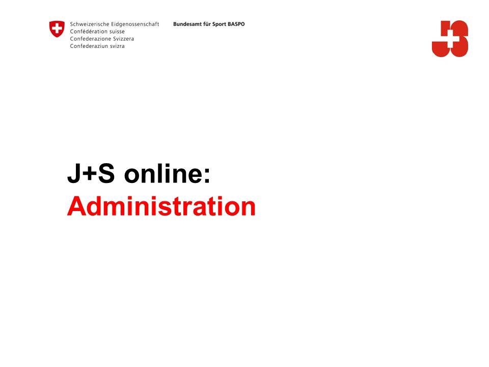 J+S online: Administration