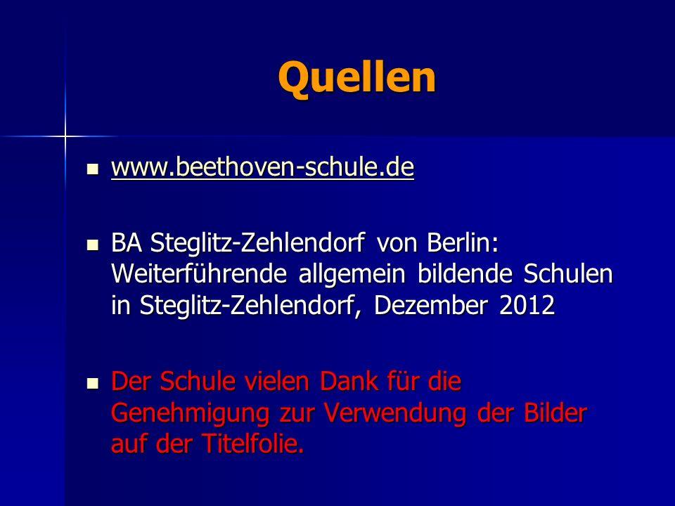 Quellen www.beethoven-schule.de www.beethoven-schule.de www.beethoven-schule.de BA Steglitz-Zehlendorf von Berlin: Weiterführende allgemein bildende S