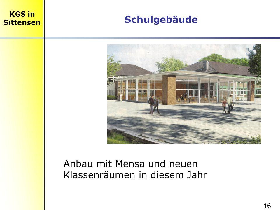 16 Schulgebäude KGS in Sittensen Anbau mit Mensa und neuen Klassenräumen in diesem Jahr