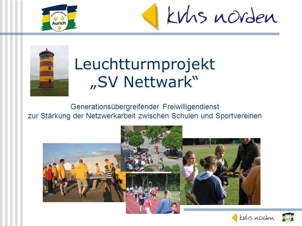 Leuchtturmprojekt SV Nettwark Generationsübergreifender Freiwilligendienst zur Stärkung der Netzwerkarbeit zwischen Schulen und Sportvereinen