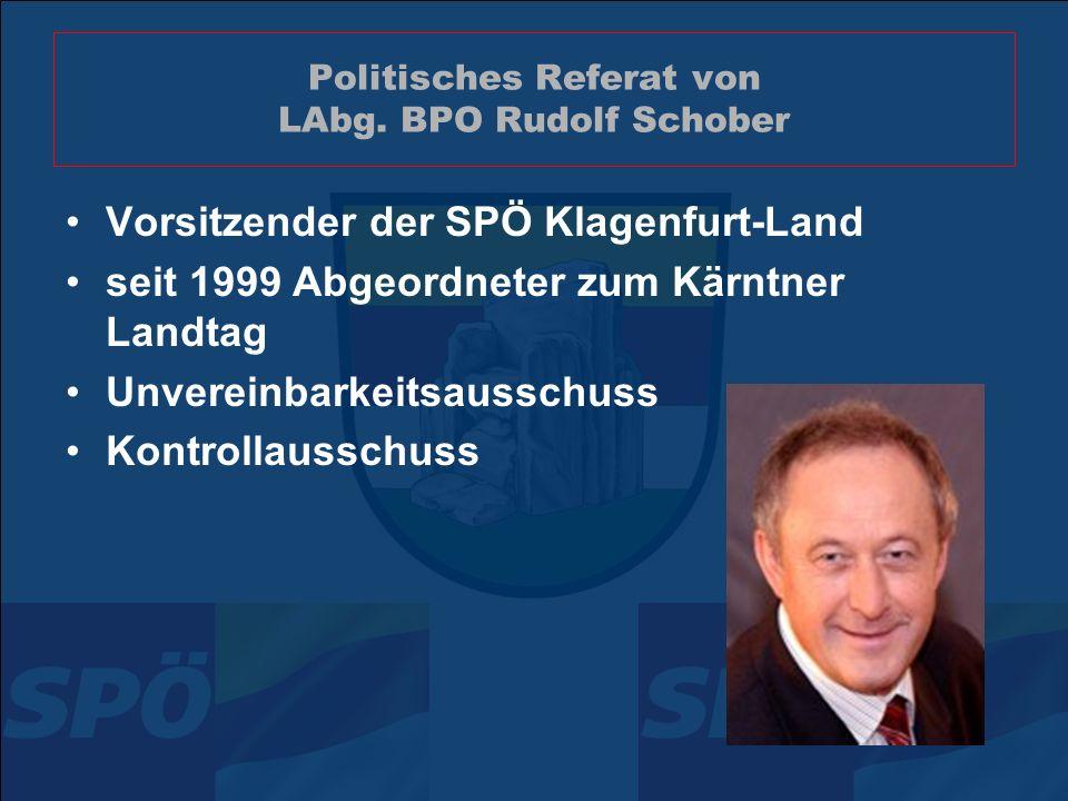 Politisches Referat von LAbg.