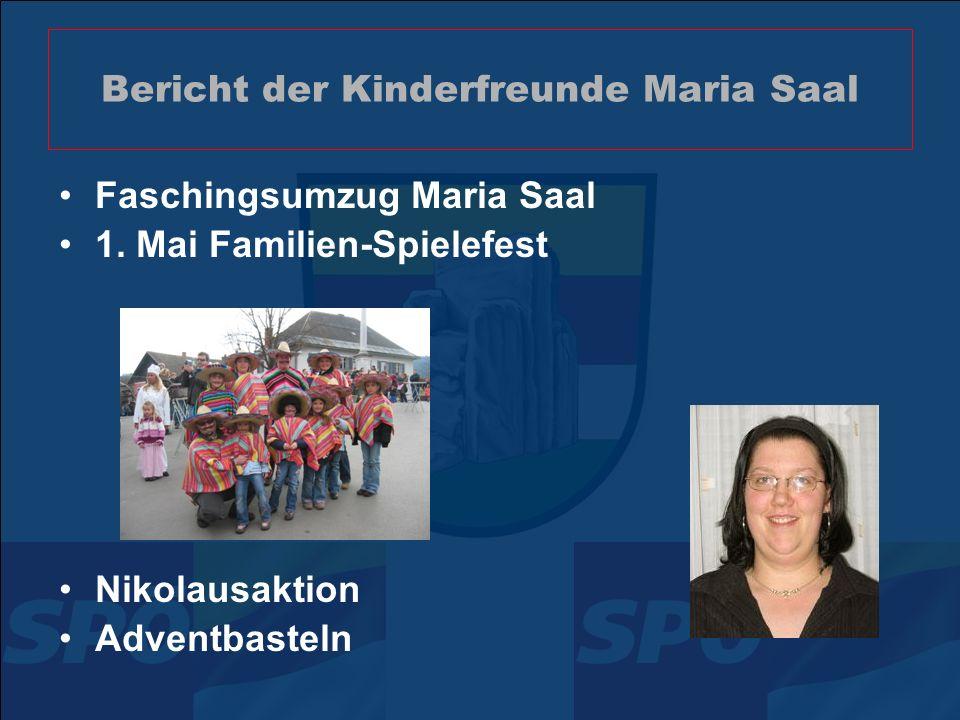 Bericht der Pensionistenverbands- Ortsgruppe Maria Saal Mehr als 225 Mitglieder Tagesfahrten bzw.