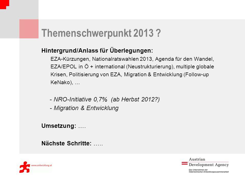 Themenschwerpunkt 2013 .