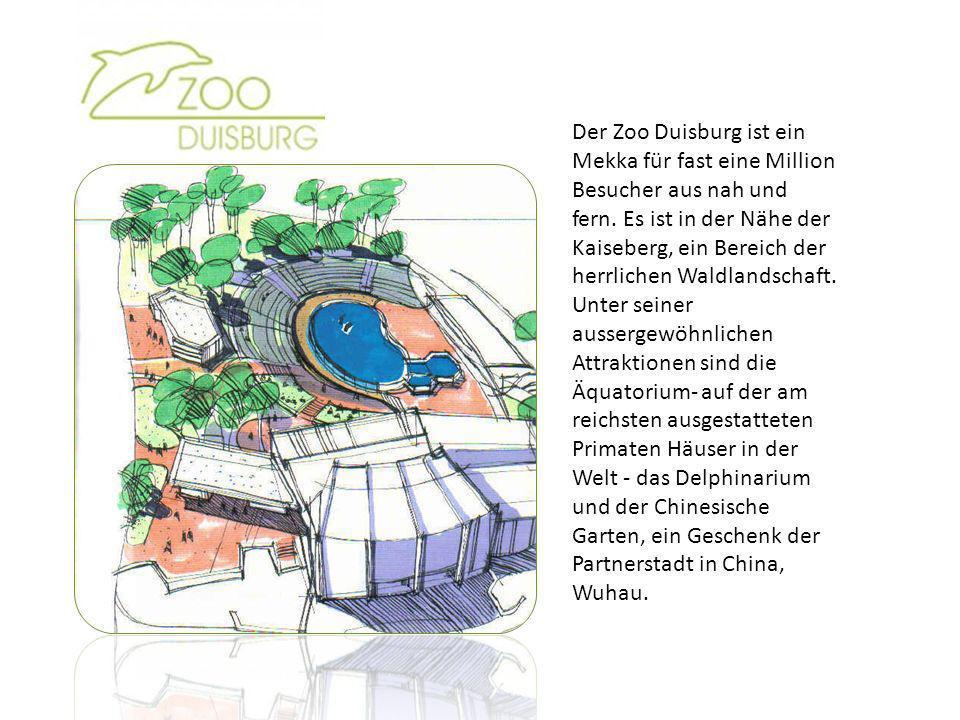 Der Zoo Duisburg ist ein Mekka für fast eine Million Besucher aus nah und fern. Es ist in der Nähe der Kaiseberg, ein Bereich der herrlichen Waldlands