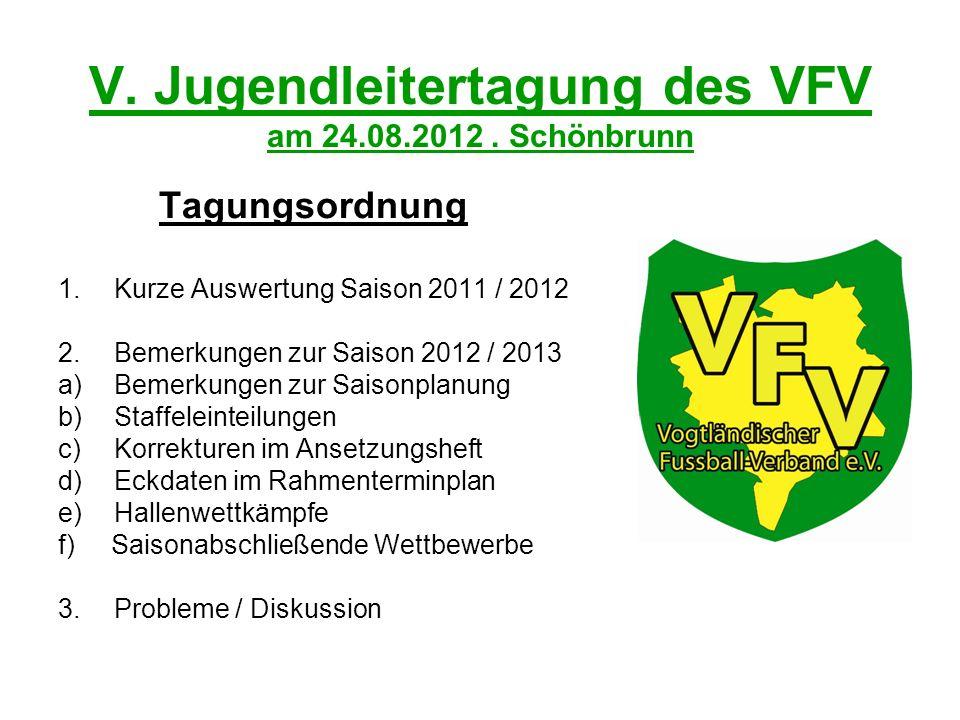 V. Jugendleitertagung des VFV am 24.08.2012.