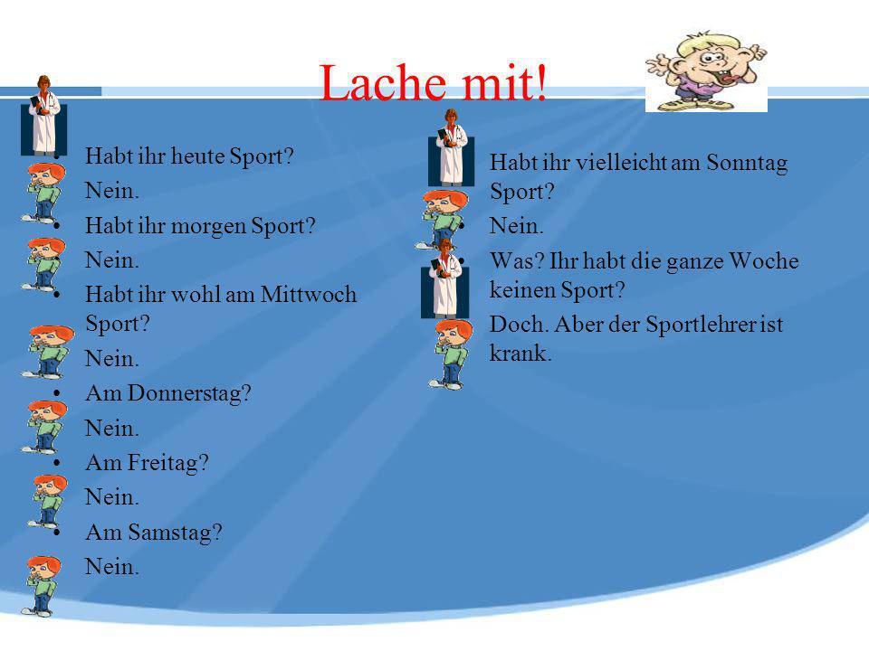 Sechs Quizfragen zum Sport Wie heißen die ersten Sportwettkämpfe, die in Griechenland stattfanden.