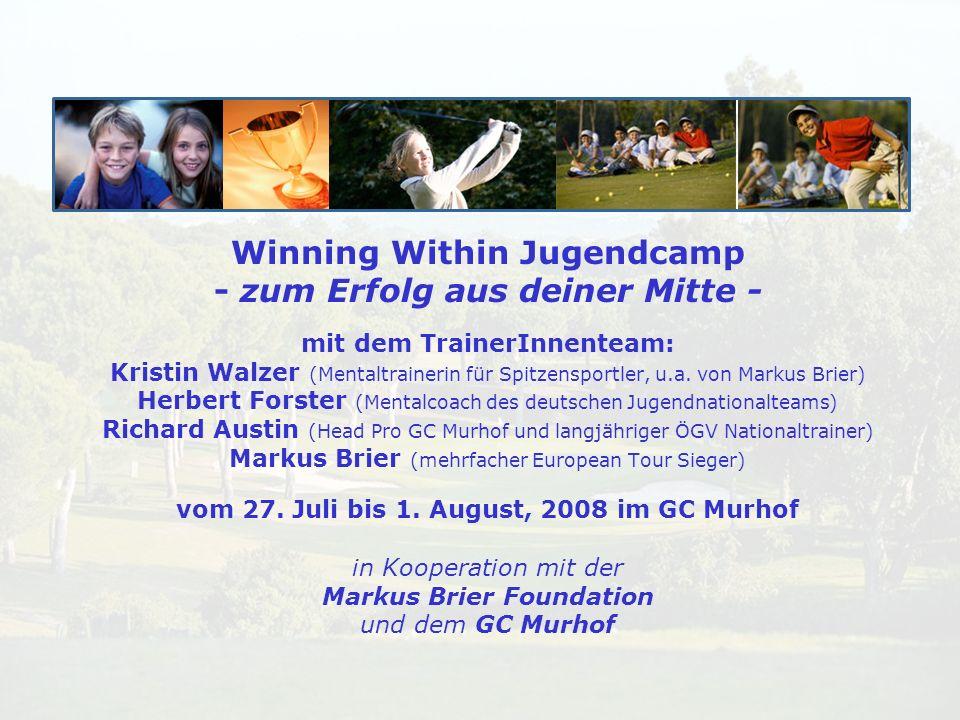 Winning Within Jugendcamp - zum Erfolg aus deiner Mitte - mit dem TrainerInnenteam: Kristin Walzer (Mentaltrainerin für Spitzensportler, u.a. von Mark