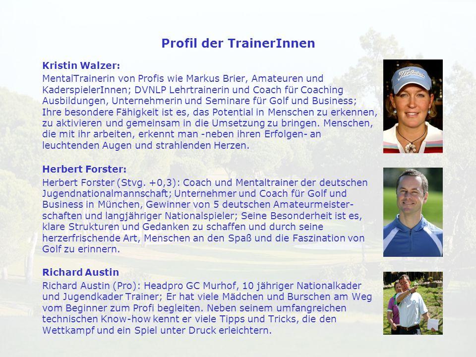 Kristin Walzer: MentalTrainerin von Profis wie Markus Brier, Amateuren und KaderspielerInnen; DVNLP Lehrtrainerin und Coach für Coaching Ausbildungen,