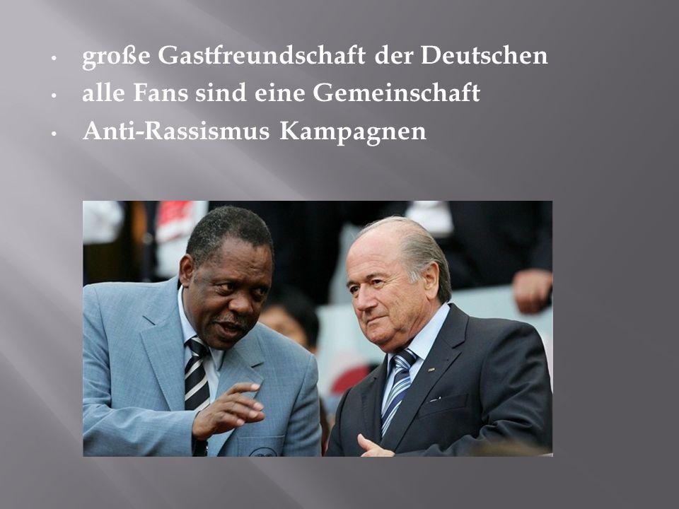 große Gastfreundschaft der Deutschen alle Fans sind eine Gemeinschaft Anti-Rassismus Kampagnen