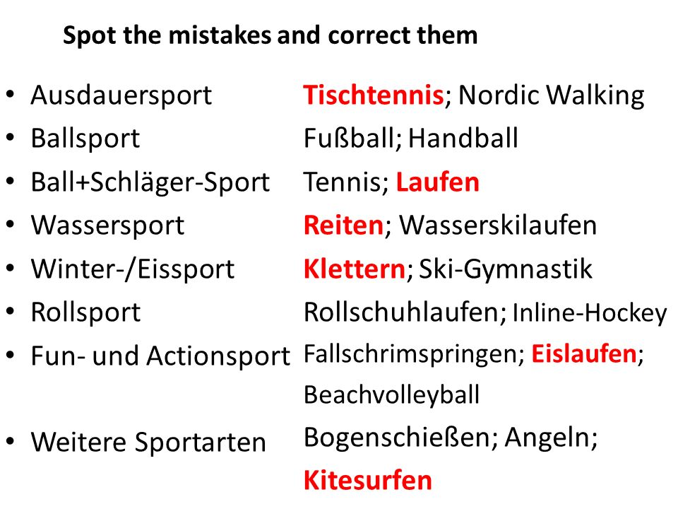 Ausdauersport Ballsport Ball+Schläger-Sport Wassersport Winter-/Eissport Rollsport Fun- und Actionsport Weitere Sportarten Tischtennis; Nordic Walking