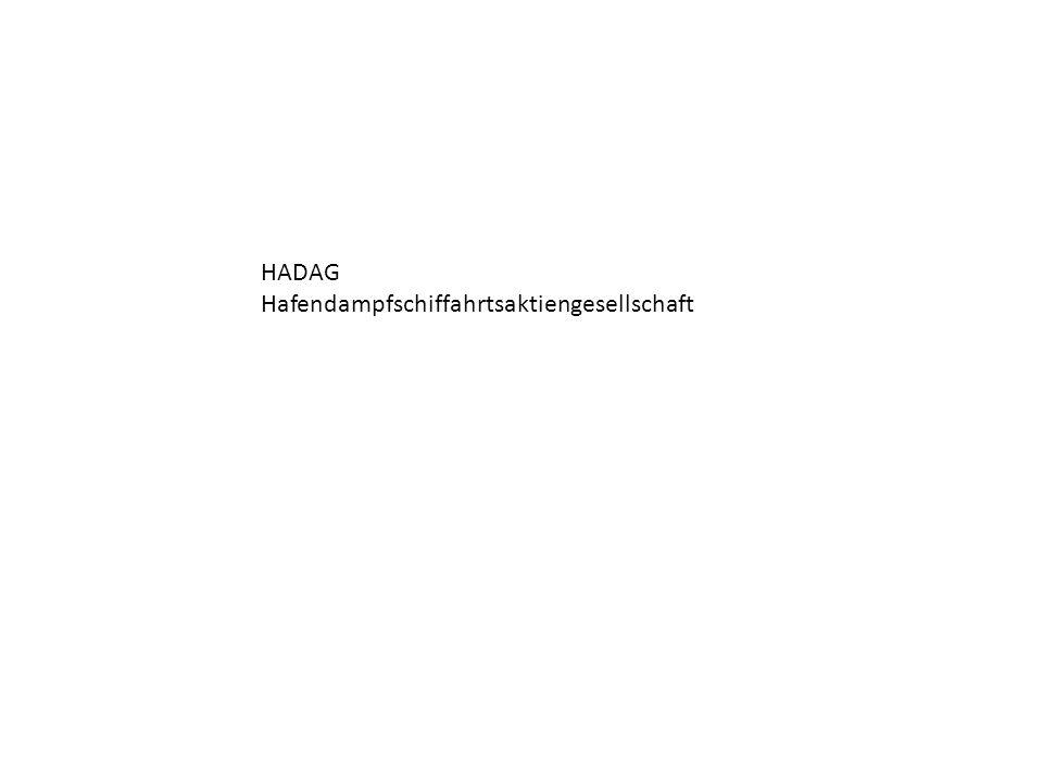 HADAG Hafendampfschiffahrtsaktiengesellschaft