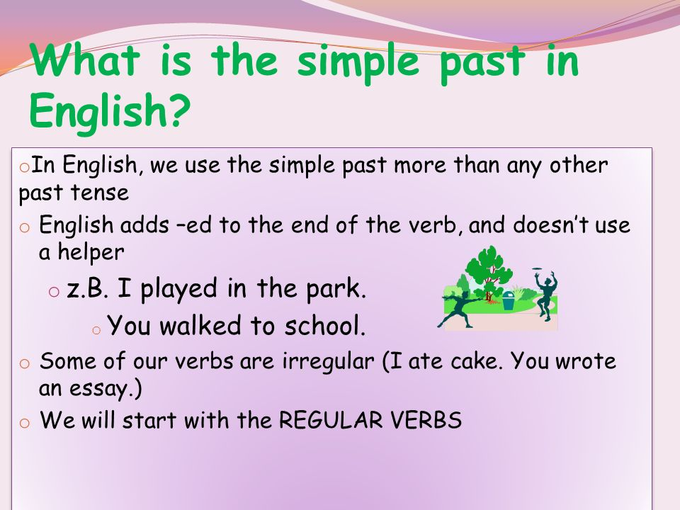Üben wir!.Change these sentences from present perfect to simple past.