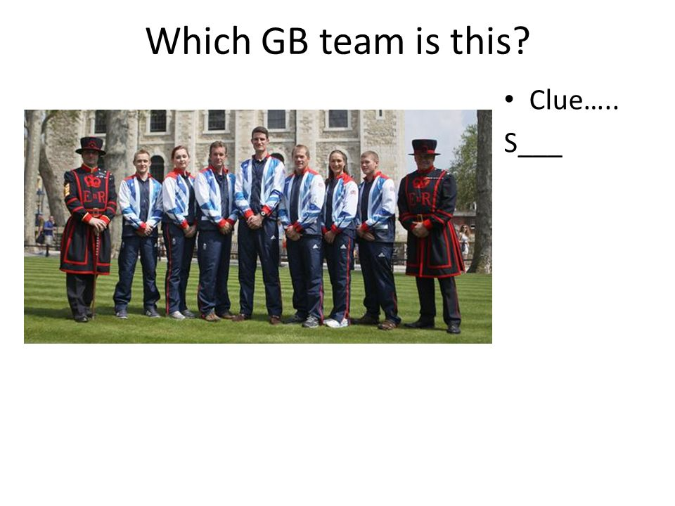 Which GB team is this? Clue….. W______