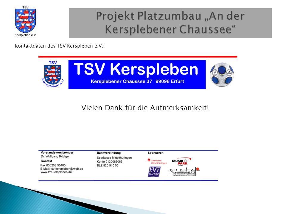 Kontaktdaten des TSV Kerspleben e.V.: Vielen Dank für die Aufmerksamkeit!