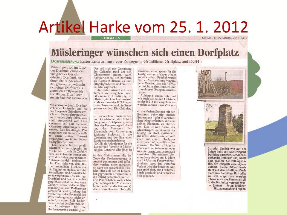 Artikel Harke vom 25. 1. 2012