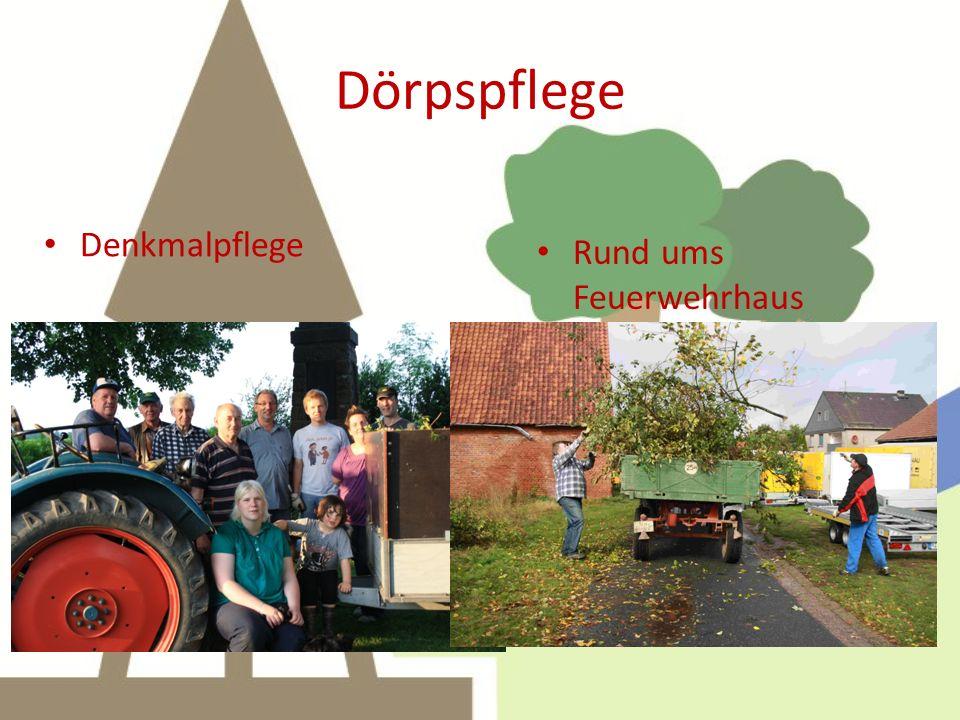 Dörpspflege Rund ums Feuerwehrhaus Denkmalpflege