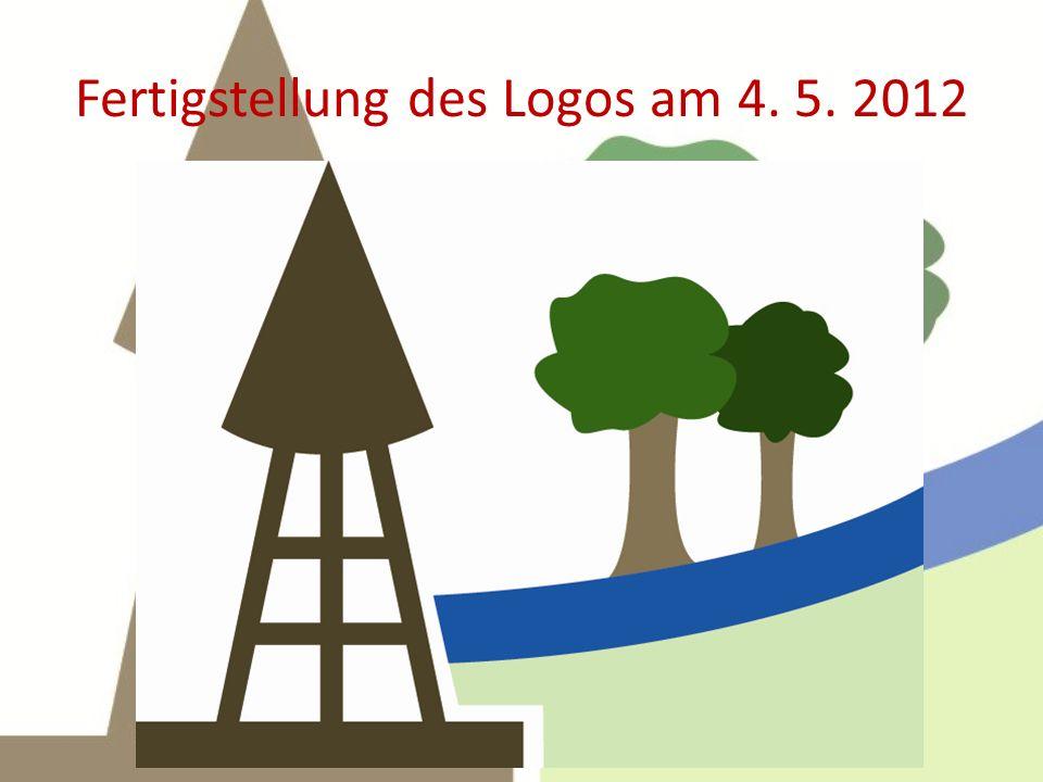 Fertigstellung des Logos am 4. 5. 2012