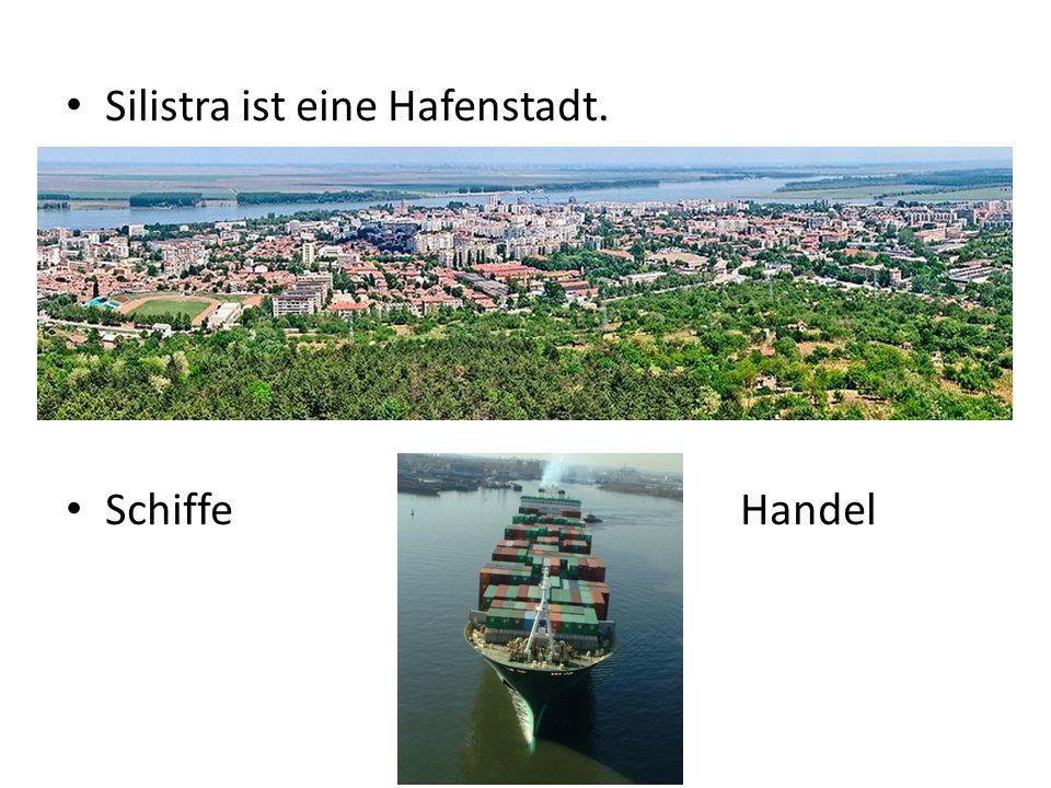 Silistra ist eine Hafenstadt. Schiffe Handel