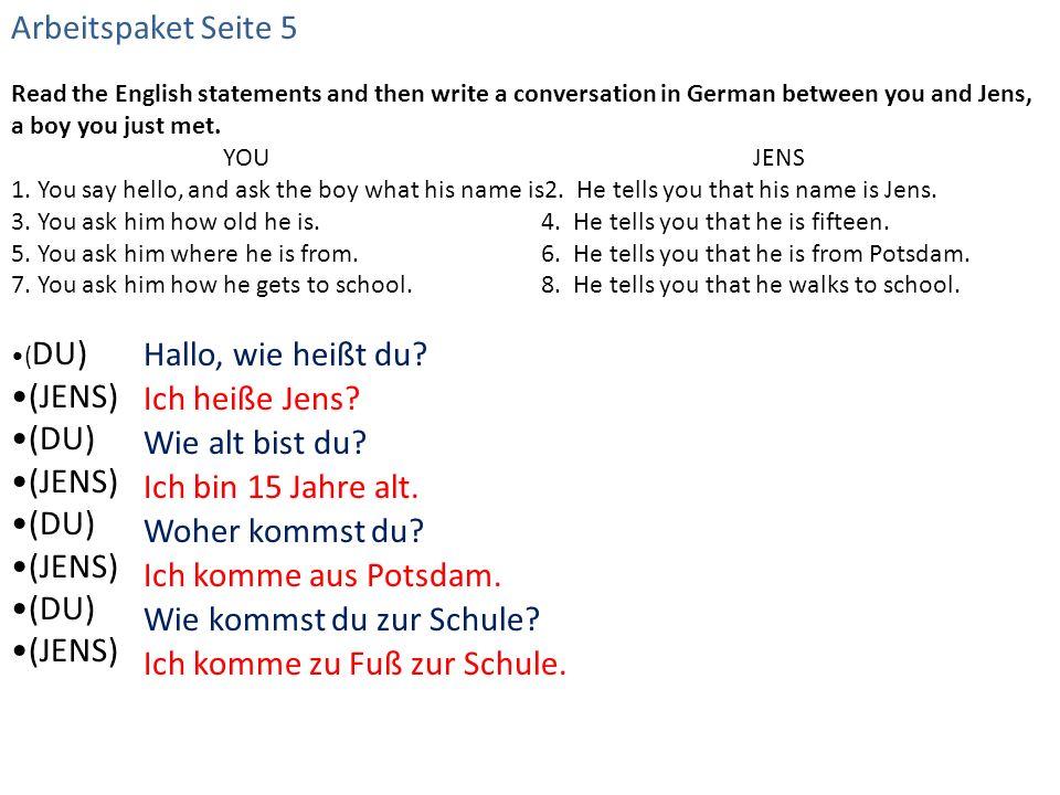 Arbeitspaket Seite 7 - Kreuzworträtsel ACROSSDOWN 4.Schoen1.