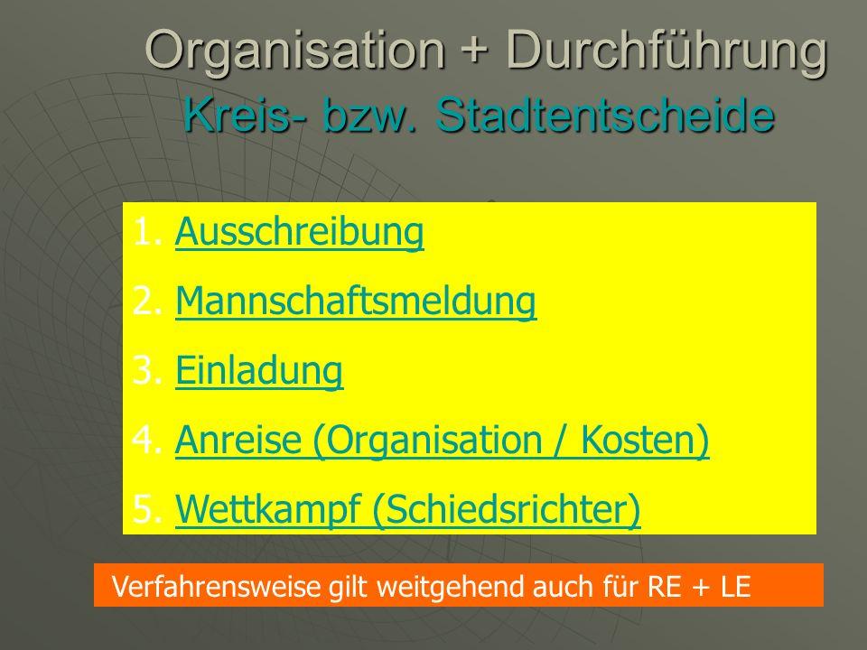 Durchführung der Wettkämpfe Organisation + Durchführung durch Koordinatoren / Koordinatorinnen für den Schulsport in Zusammenarbeit mit dem SSA Limburg- Weilburg/Lahn-Dill (sowie Vertreter + Vertreterinnen der Fachverbände)