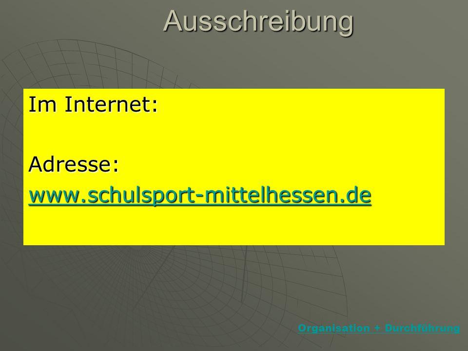 Ausschreibung - Landkreis - Am Ende der Sommerferien/zu Beginn eines jeden Schuljahres Ausschreibung im Internet!!.