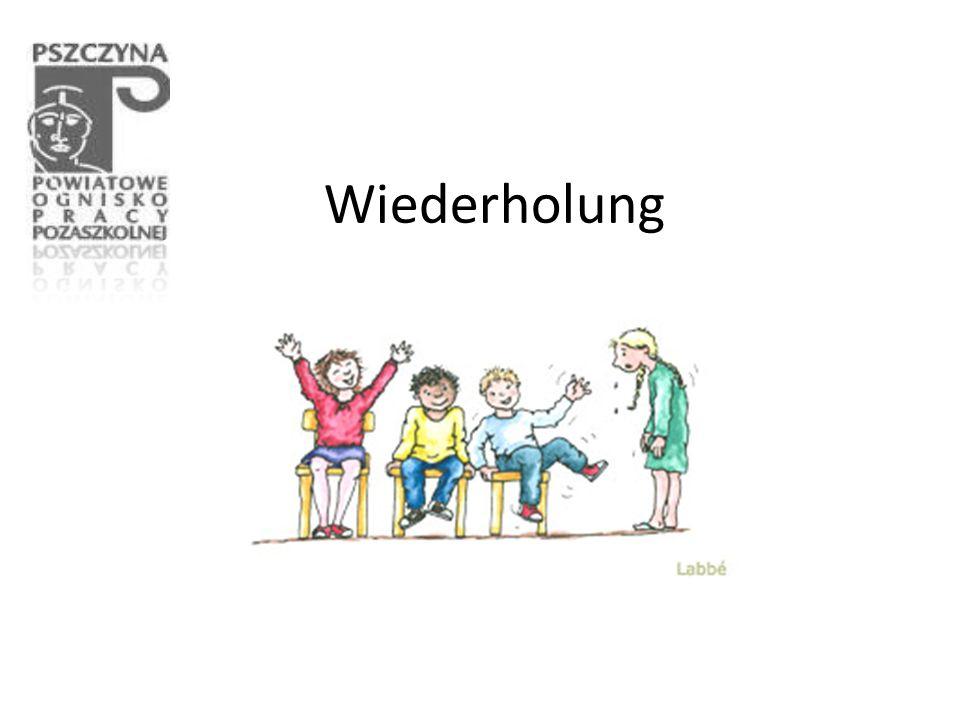 Ergänze die Buchstaben 1.In Deutsch h _ r _ _ und sch _ _ _ _ _ _ wir viel.