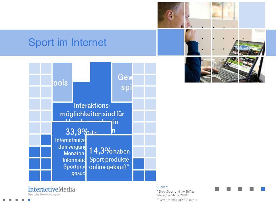 Sport im Internet 32% der Internetnutzer in Deutschland besuchen regelmäßig Sportseiten * Viele Sportergebnisse sind nur im Internet aktuell erhältlic