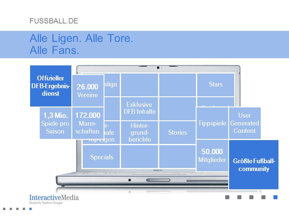 Alle Ligen. Alle Tore. Alle Fans. Offizieller DFB-Ergebnis- dienst Eigene Online- Redaktion Bundesliga inter- nationale Top-Ligen Specials Exklusive D