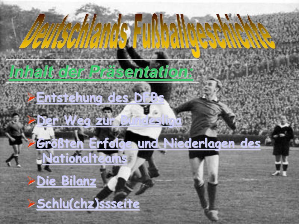 D i e E n t s t e h u n g d e s D F B s Vertreter aus 86 Vereinen gründeten am 28.