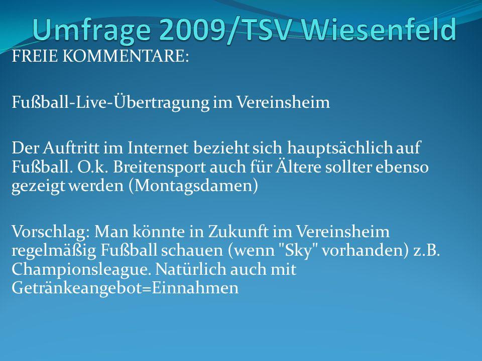 FREIE KOMMENTARE: Fußball-Live-Übertragung im Vereinsheim Der Auftritt im Internet bezieht sich hauptsächlich auf Fußball.