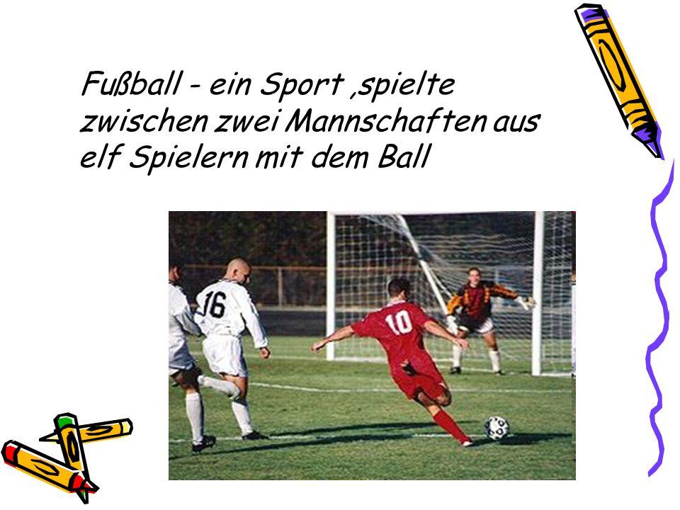 Fußball - ein Sport,spielte zwischen zwei Mannschaften aus elf Spielern mit dem Ball