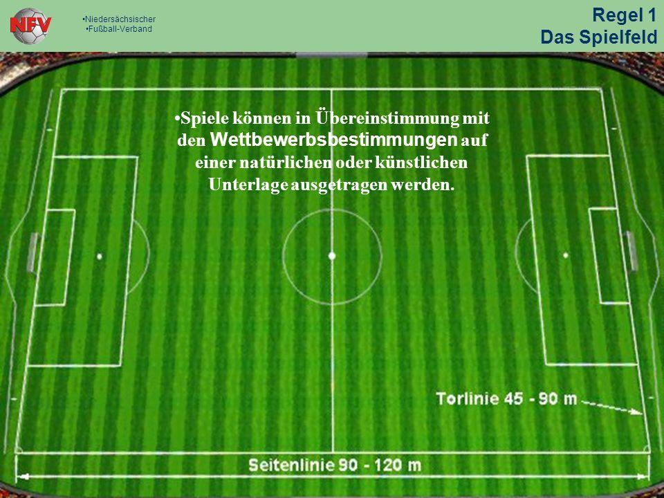 Regel 1 - Das Spielfeld Die Linien gehören zu jenen Flächen, welche sie begrenzen.