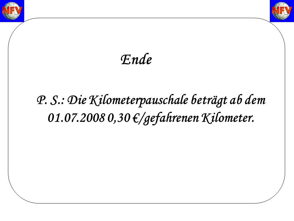 Regeländerungen zur Saison 2007/2008 Ende P.