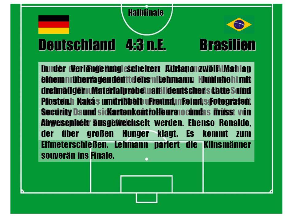 Nun also geht die WM auch endlich für die deutsche Mannschaft los, nachdem der Weg ins Finale als lästiges Pflichprogramm abgehakt werden konnte.