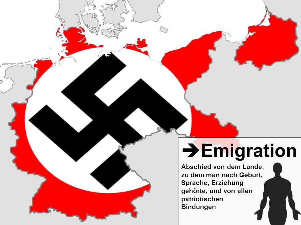 Emigration Abschied von dem Lande, zu dem man nach Geburt, Sprache, Erziehung gehörte, und von allen patriotischen Bindungen