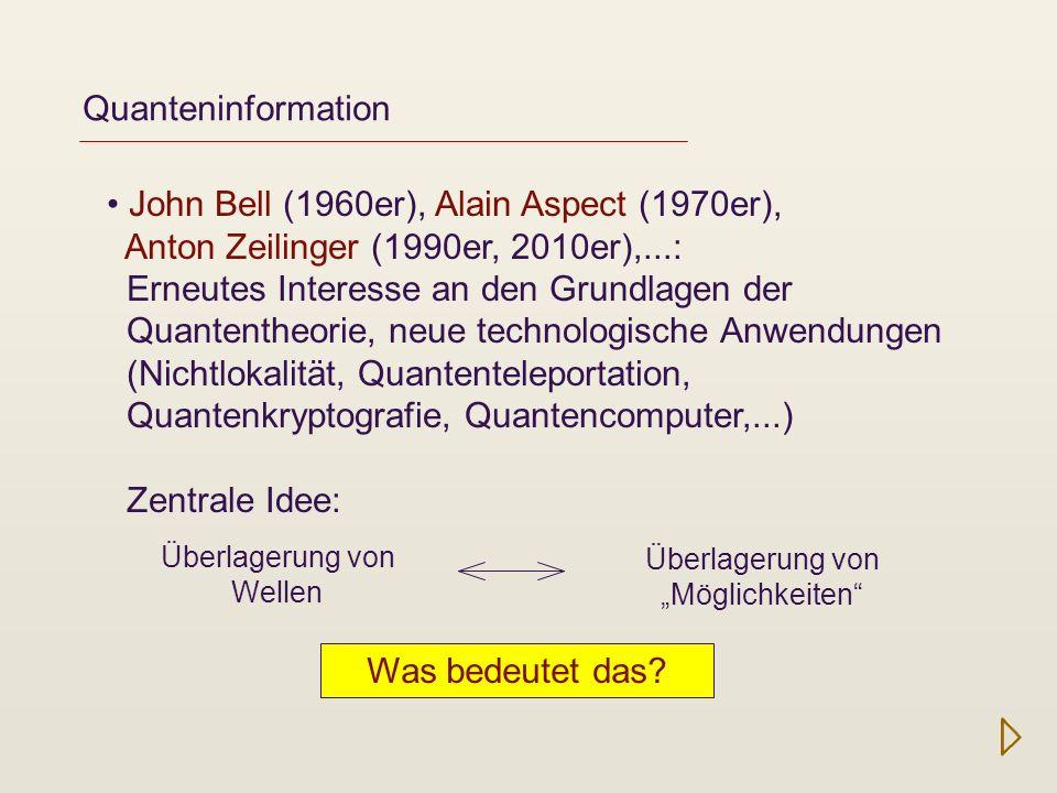 Das Bombenexperiment Einstieg in die Quantentheorie ohne Formeln Der Elitzur-Vaidman-Bombentest *) *) Avshalom Elitzur and Lev Vaidman, Quantum mechanical interaction-free measurements, Found.