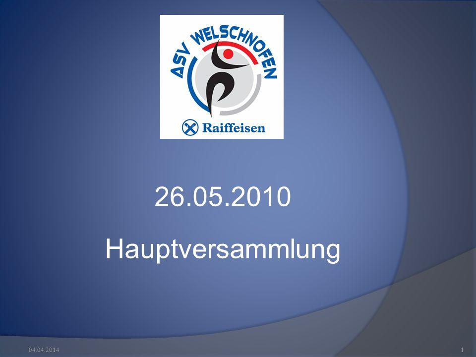 26.05.2010 Hauptversammlung 04.04.20141