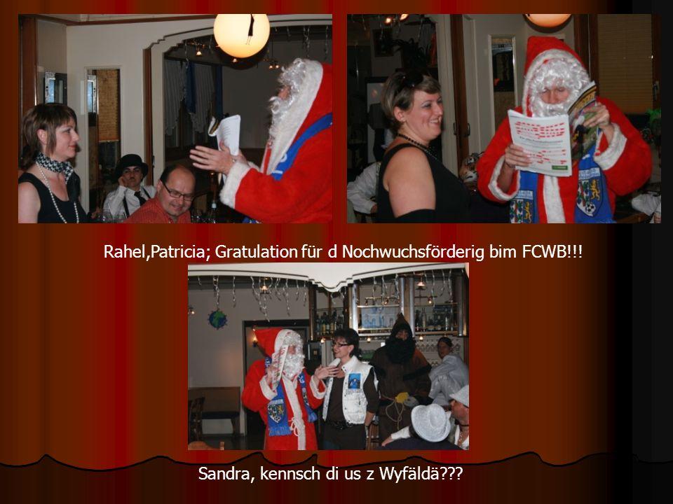 Rahel,Patricia; Gratulation für d Nochwuchsförderig bim FCWB!!! Sandra, kennsch di us z Wyfäldä