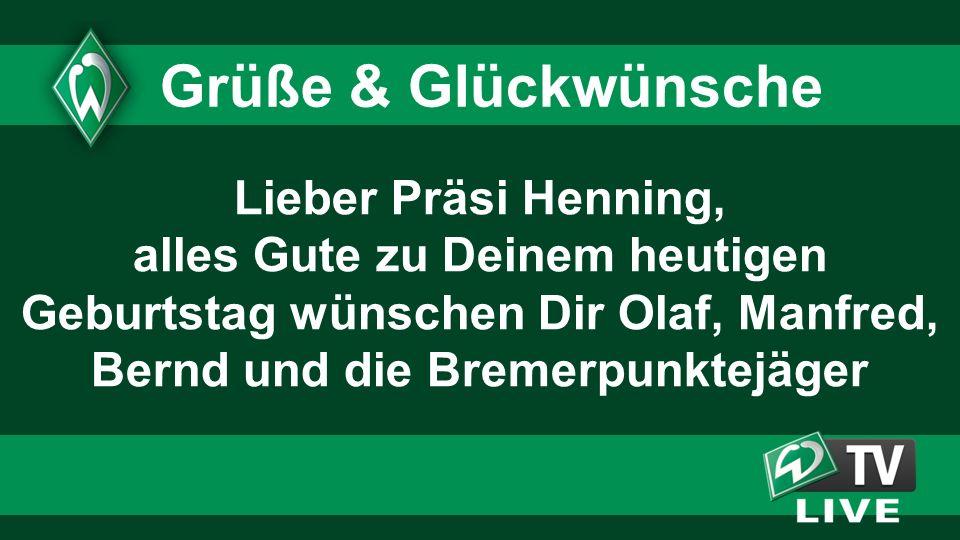 Lieber Präsi Henning, alles Gute zu Deinem heutigen Geburtstag wünschen Dir Olaf, Manfred, Bernd und die Bremerpunktejäger Grüße & Glückwünsche