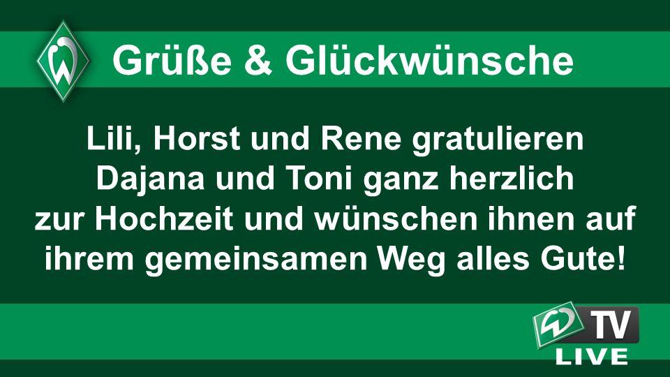 Lili, Horst und Rene gratulieren Dajana und Toni ganz herzlich zur Hochzeit und wünschen ihnen auf ihrem gemeinsamen Weg alles Gute! Grüße & Glückwüns