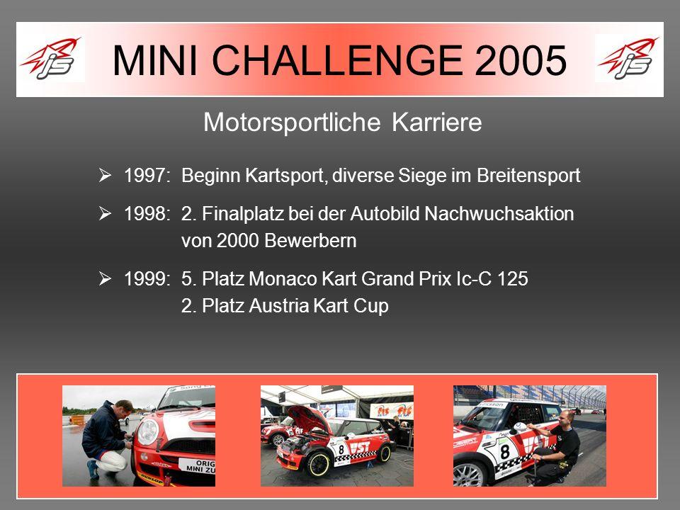 Motorsportliche Karriere 1997: Beginn Kartsport, diverse Siege im Breitensport 1998: 2. Finalplatz bei der Autobild Nachwuchsaktion von 2000 Bewerbern