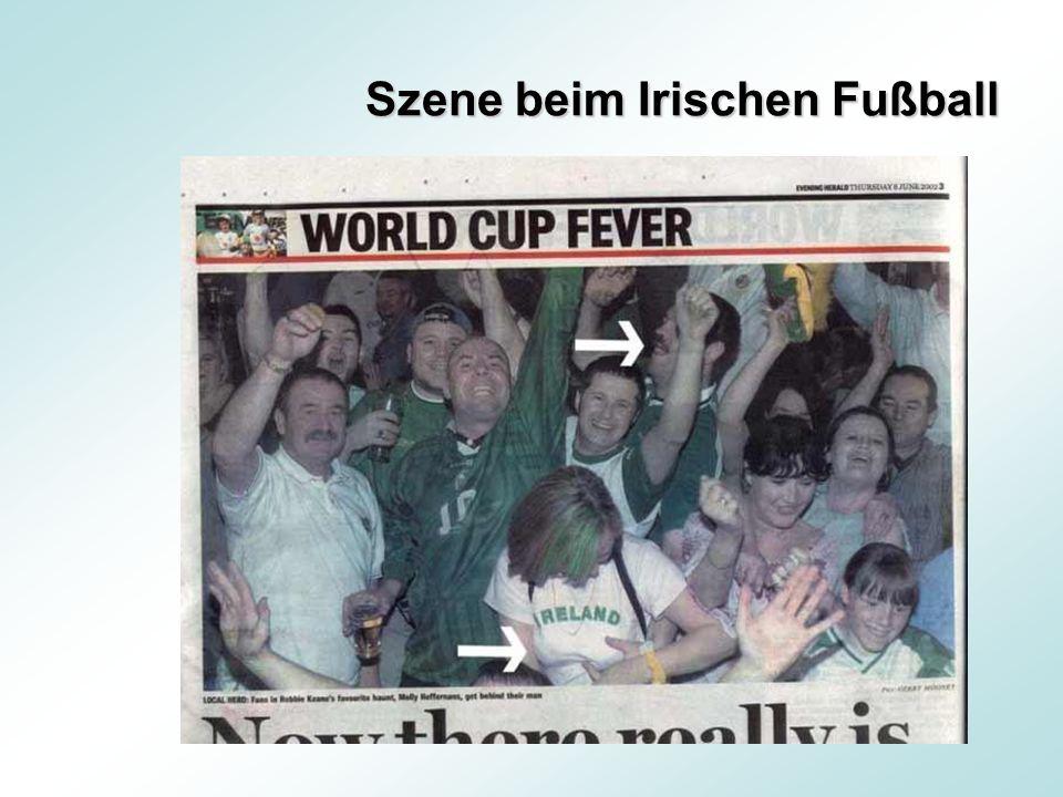 Szene beim Irischen Fußball