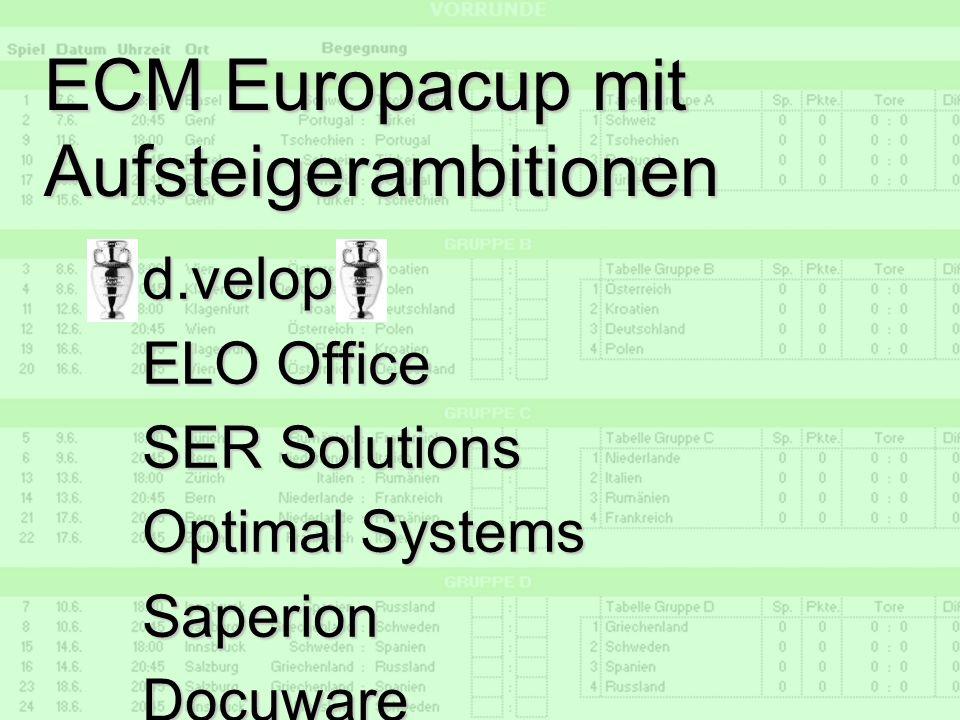 26 d.forum Trainerbriefing: die ECM Liga Dr. Ulrich Kampffmeyer PROJECT CONSULT Unternehmensberatung Dr. Ulrich Kampffmeyer GmbH Breitenfelder Straße