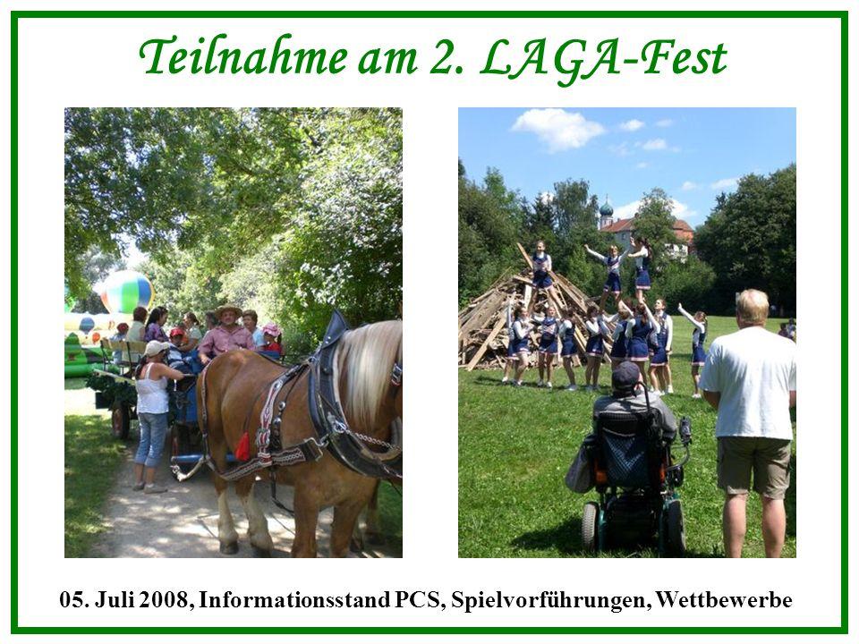 Teilnahme am 2. LAGA-Fest 05. Juli 2008, Informationsstand PCS, Spielvorführungen, Wettbewerbe