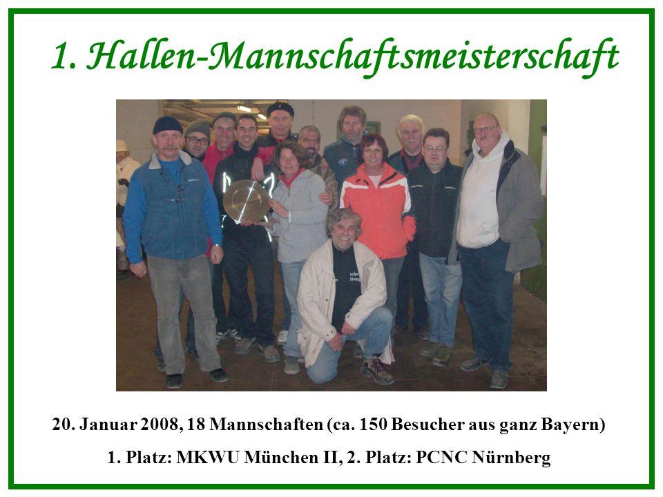 1. Hallen-Mannschaftsmeisterschaft 20. Januar 2008, 18 Mannschaften (ca.
