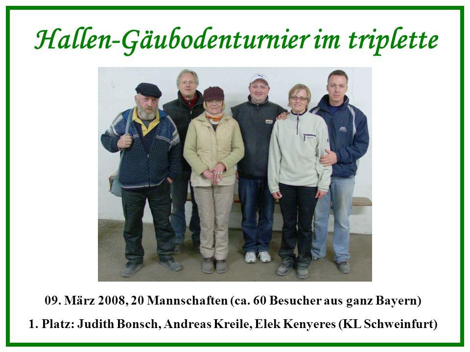 Vereinsmeisterschaft im tête à tête 22.März 2008, 22 Vereinsmitglieder 1.