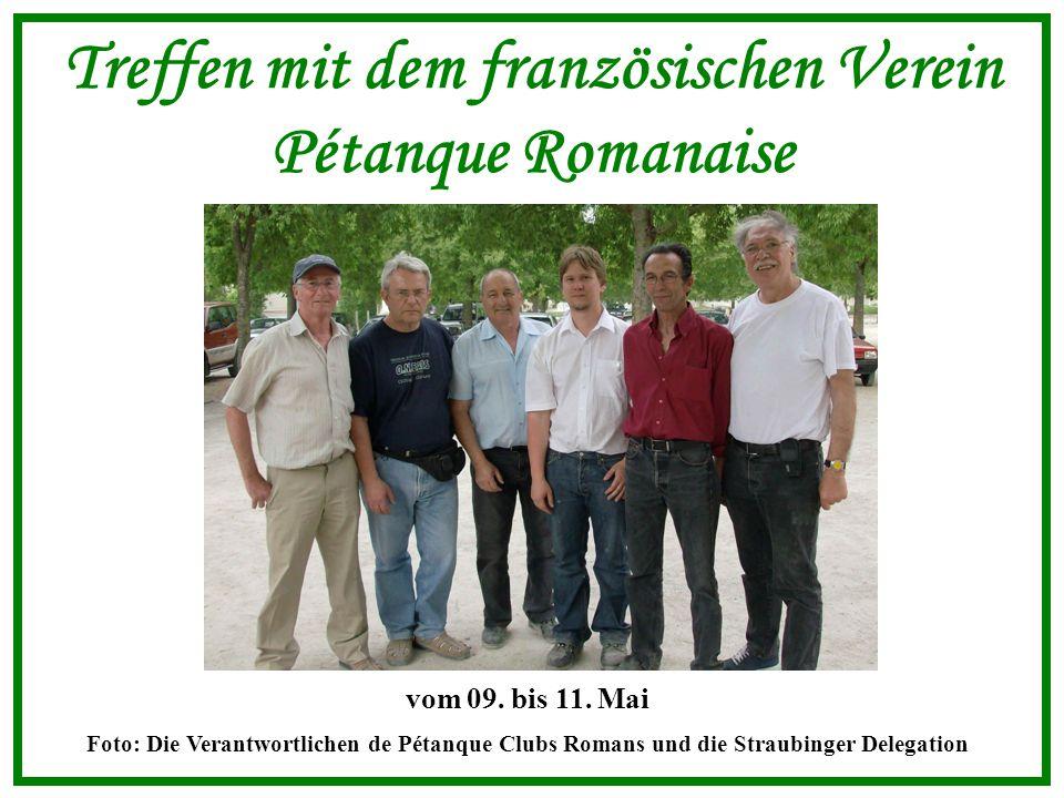 Treffen mit dem französischen Verein Pétanque Romanaise vom 09.