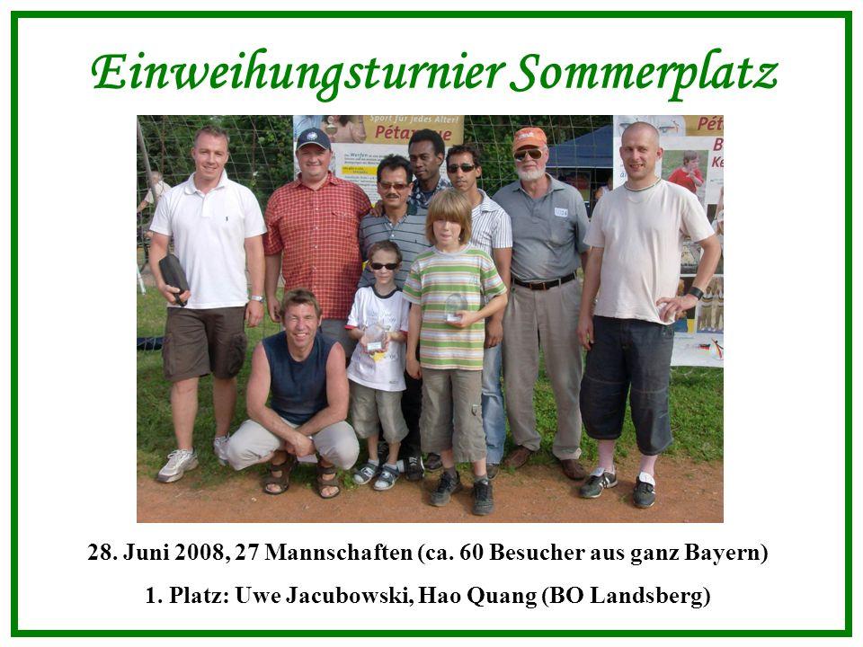 Einweihungsturnier Sommerplatz 28. Juni 2008, 27 Mannschaften (ca.