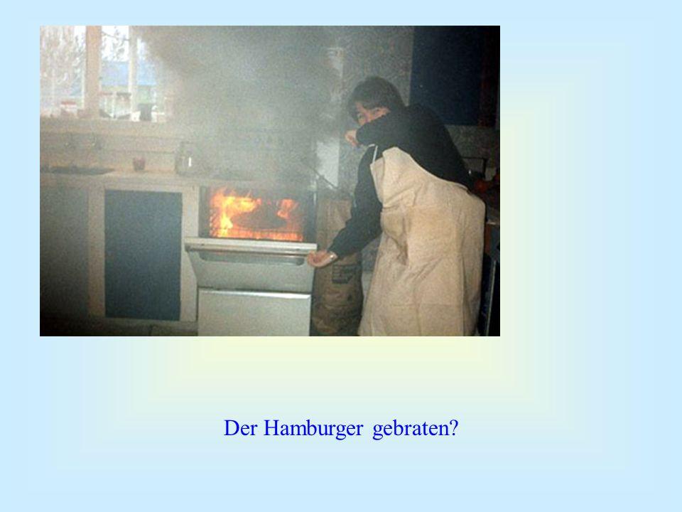 Der Hamburger gebraten