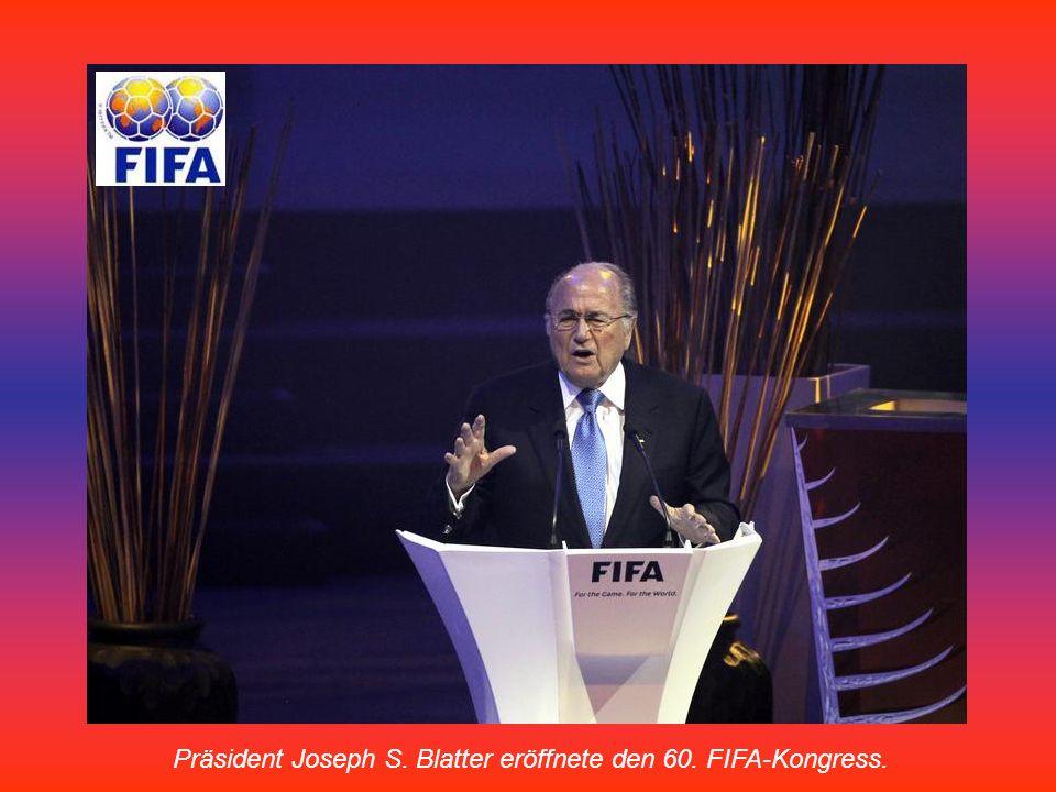 Präsident Joseph S. Blatter eröffnete den 60. FIFA-Kongress.